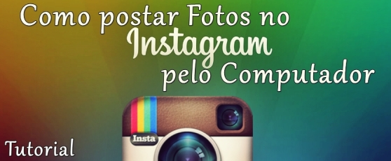 Postando no Instagram do computador